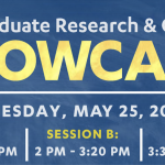 Undergraduate Research and Creativity Showcase on May 25th