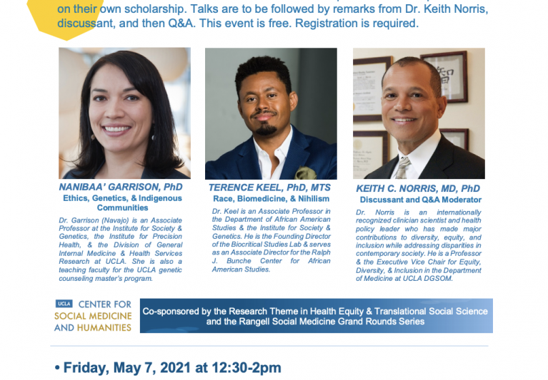 May 7th Structural Racism in Biomedical Research Webinar Recording